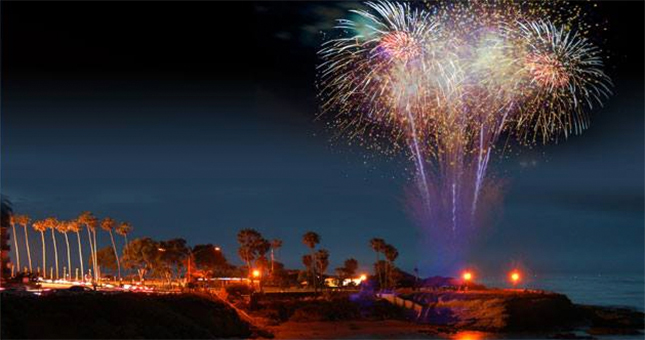 la jolla cove 4th fireworks 645x340